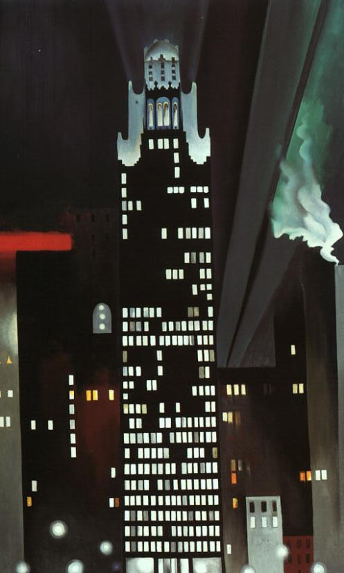 Radiator Building - Night, New York, 1927 by Georgia O'Keefe