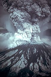 Mount St. Helens erupts 05-18-80