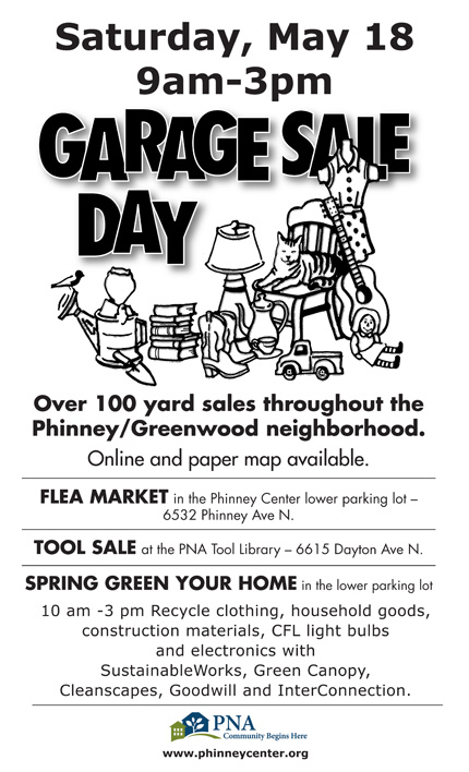 2013 Greenwood Garage Sale Flyer