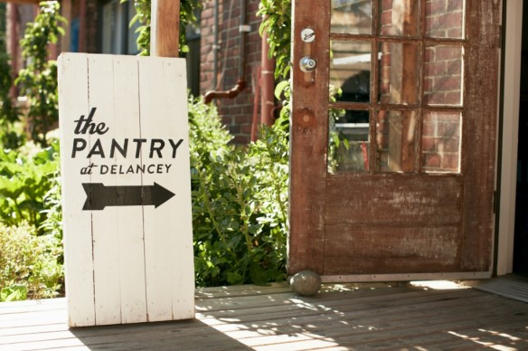 The Pantry at Delancey signboard