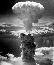A-Bomb exploding over Nagasaki 1945