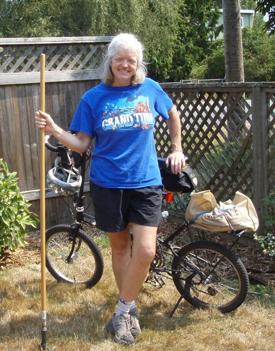 AlisonVanDusen in Carol Crickman's yard