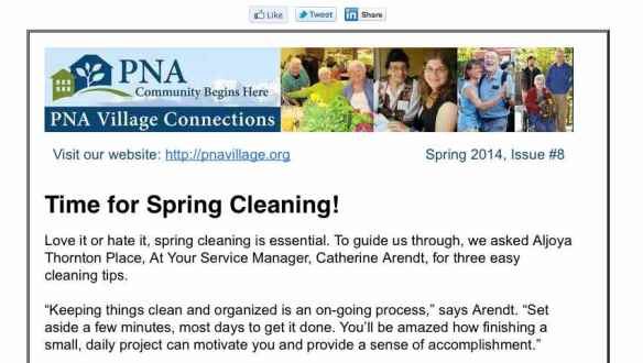 Spring 2014 PNA Village Connections Newsletter