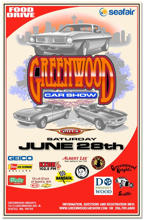 Greenwood Car Show 2014 poster