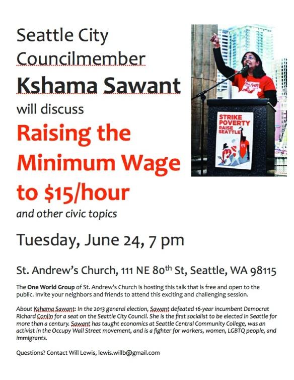 Kshama Sawant event