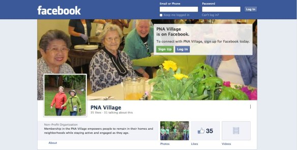 PNA Village on Facebook screenshot