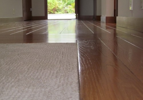 Low-pile carpeting recessed into wood floors allows for sophisticated interior design without compromising safety [via afriendlyhouse.com]