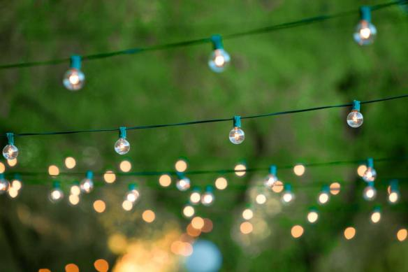 stock string lights photo