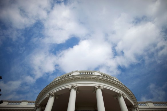 Sky above the Truman Balcony of the White House Sep 29 2009. (Official White House Photo by Chuck Kennedy)