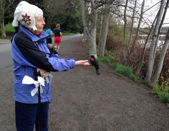 Ann Rodgers and Friend at Greenlake Spring 2015