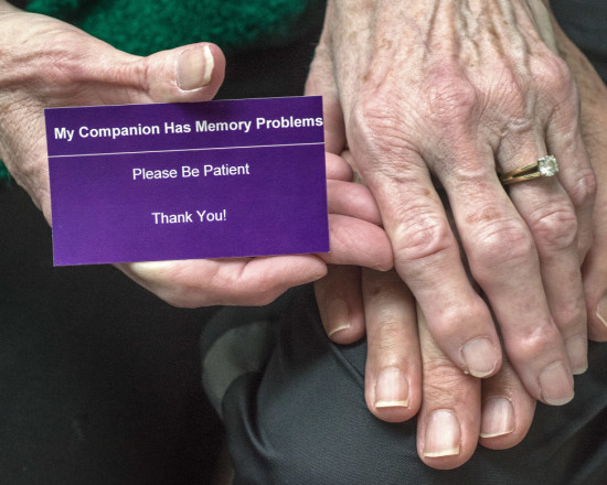 The language of Madeleine Fraley's purple card could be the basis for a similar card used by the state [Credit Dean Koepfler - The News Tribune ]